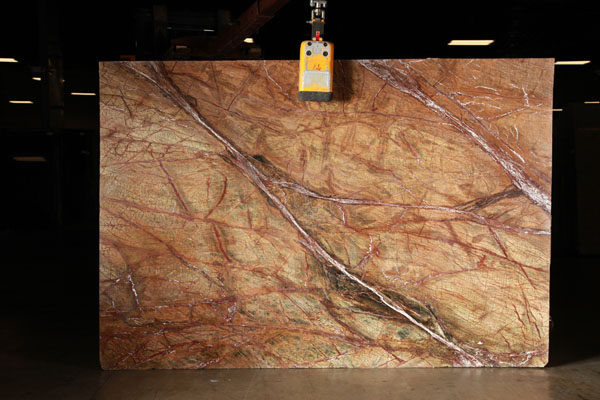 A slab of rainforest brown granite from Granite Grannies